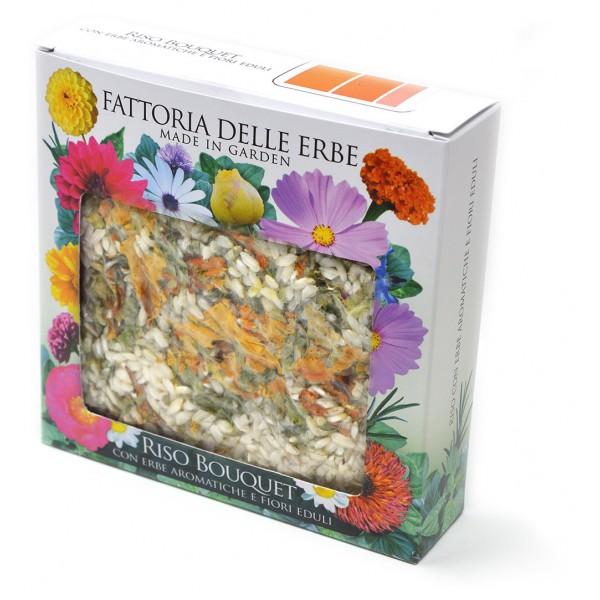 Riso bouquet arancione - Risotto ai Fiori eduli