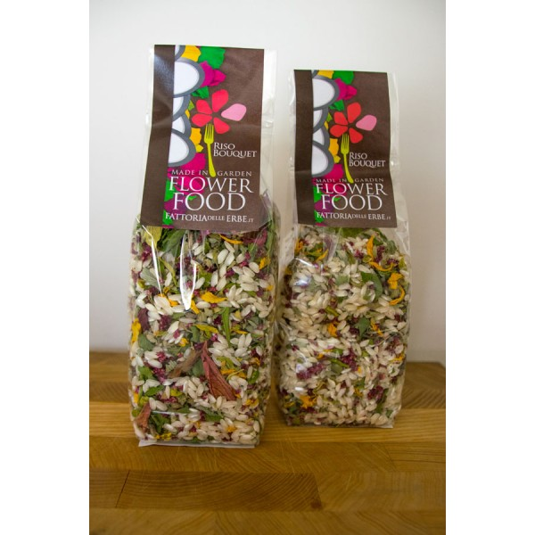 Riso bouquet amaranto - Risotto ai Fiori eduli