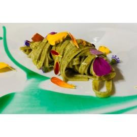 Pasta ai 3 Basilici - Tagliatelle alle erbe con fiori eduli